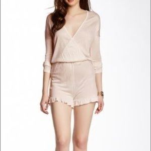 For Sienna pale pink long sleeve romper size small